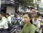 ホーチミンの渋滞映像