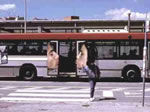 世界のバスの車外広告