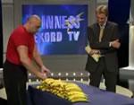 バナナ千切り世界記録