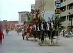 パレード中にいきなり走り出す馬