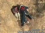崖からの救出劇