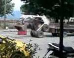 ブルトーザーをトラックの荷台に乗せる方法