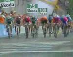 自転車レース ゴール前アクシデント