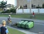 自転車でゴミ箱飛び
