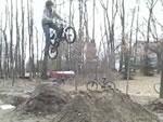 BMXジャンプ失敗