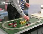 磁気浮上式電車のおもちゃ