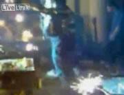 バンコクの高級クラブ 火災前の映像