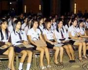 タイの女子大生の制服