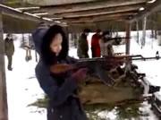 Woman vs Rifle