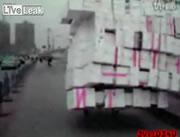 リアカーで大量の荷物運び