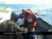 ソマリア沖で海賊を捕まえるフランス海軍