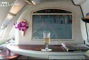 エミレーツ航空のエアバス A 380の機内