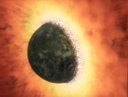 40億年前には地球にも衝突、凄すぎる天体衝突(再現映像付き)