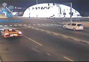 交差点で追突事故