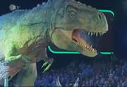 スタジオでリアルな恐竜ショー