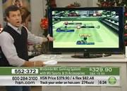 テレビショッピング テニスゲーム紹介でハプニング