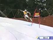 スキー競技ダウンヒルでのアクシデント