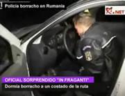 ルーマニアの警官 飲酒で居眠り中