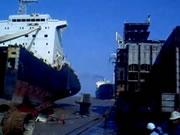 大型船アクシデント