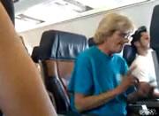 着陸時の迷惑おばさん