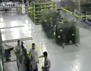 ガラス工場で死亡事故
