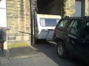 トラベルトレーラー?を駐車場から出す