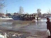 地対空ミサイル運搬車ハプニング