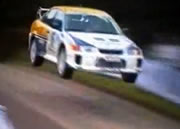 Crazy Rally Jumping action on tarmac