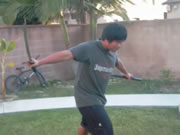 剣を使った遊びはほどほどに。