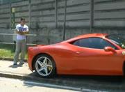 フェラーリ458イタリア事故