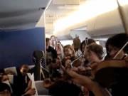 KLMオランダ航空 機内で生演奏サービス
