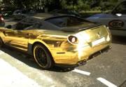 Gold Ferrari 599