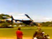 携帯電話のカメラで撮影されたヘリコプター事故