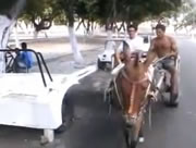 馬車の縦列駐車