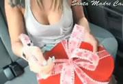 彼女へのバレンタインプレゼントで悪戯