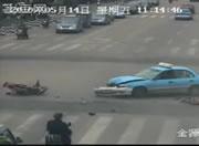 交差点事故 車とバイクの衝突事故