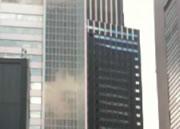 大地震による高層ビルの揺れ