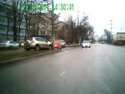 左折しようとする車との衝突事故