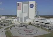 ケネディ宇宙センターの従業員でスペースシャトルの人文字