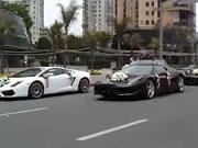 中国 高級車が集まる金持ちの結婚式
