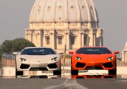 Lamborghini Aventador on the streets of Rome