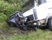 居眠り運転で正面衝突事故