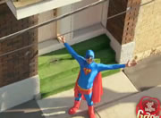 どっきりカメラ 空飛ぶスーパーマン撮影