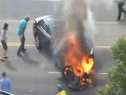 車とバイク衝突事故からの救出劇!!