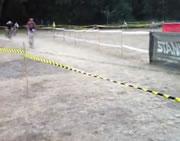 自転車障害物競走ハプニング