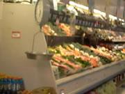 アラスカ スーパーに子グマが!