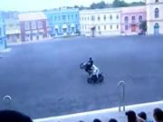 バイクスタントショー事故
