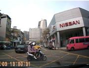交差点でバイク同士で衝突事故