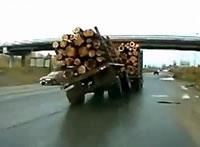トレーラーが横転するかと思った!