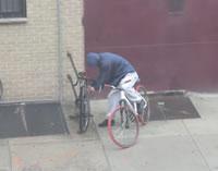 自転車ハンドル泥棒